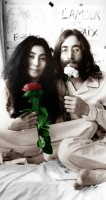 John Lennon and Yoko Ono bed-in 1969