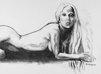 Tony Bennett Lady Gaga nude drawing
