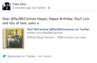 Yoko Sends Paul A Birthday Message