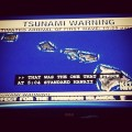 Delta Spirit tweet pic of Tsunami warning