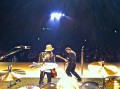 ZZ Top with Jimmie Vaughan in Austin photo by Frank Beard from his drum kit