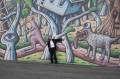 Reg Mombassa with his art at Sydney Opera House, Noise11, Photo