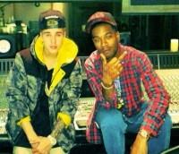 Justin Bieber and Kid Cudi in the studio Jan 2014