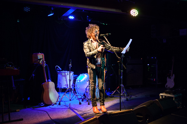 Kim Salmon at the launch of Leaps and Bounds 2015, photo by Ros O'Gorman