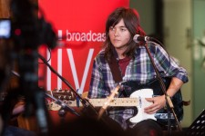Courtney Barnett performs in the ABC Melbourne Studio Foyer celebrating the 25th Anniversary of the Archie Roach album Charcoal Road. Photo by Ros O'Gorman