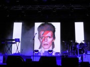 David Bowie image at Icehouse show Australia