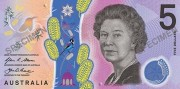 Australias new five dollar note