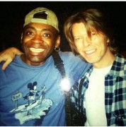 David Bowie and Dennis Davis