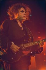 The Cure vocalist and guitarist Robert Smith performs at Rod Laver Arena in Melbourne on 12 August 2007.