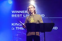 King Gizzard and the Lizard Wizard. Photo by Ros O'Gorman. The Age Music Victoria Awards held at 170 Russell on Wednesday 16 November 2016 during Melbourne Music Week.