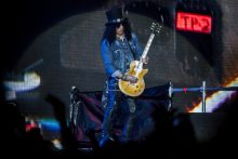 Guns N Roses perform at the MCG in Melbourne on Tuesday 14 February 2017. Guns N Roses are touring Australia on their Not In This Lifetime tour. Photo Ros O'Gorman