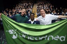 Unearthed High 2017 winner Arno with Ben and Liam