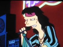 Aerosmith in The Simpsons Flaming Moes episode