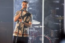 Sam Smith plays the Town Hall in Melbourne at an intimate show put on by iHeart Radio, KiisFM and Optus Yes. Photo by Ros O'Gorman