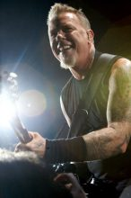 James Hetfield of Metallica photo by Ros OGorman