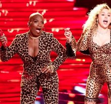 Janice Freeman and Miley Cyrus