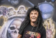 Joey Belladonna of Anthrax at Download 2019 photo by Mary Boukouvalas