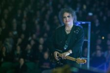 The Cure frontman Robert Smith performs at Rod Laver Arena in Melbourne on Thursday 28 July 2016.