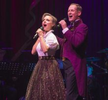 Rachel Beck and Todd McKenney in Barnum the Musical photo by Jeff Busby