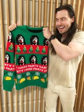 Andrew W.K. and his Holiday Sweater