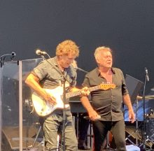 Cold Chisel's Ian Moss and Jimmy Barnes at Mt Duneed Winery 11 Jan 2020