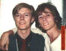 David Bowie and Ivan Kral