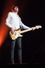 Alex James Blur perform in Melbourne at Rod Laver Arena on Tuesday 28 July 2015.
