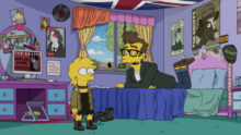 Lisa Simpson with Quilloughby