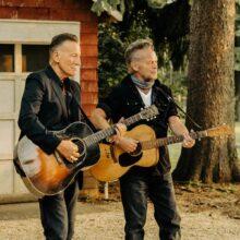 Bruce Springsteen and John Mellencamp photo by Taryn Weitzman