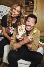 Lionel Richie and Tyra Banks new ice-cream Photo by Massimo Campana