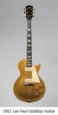 1952 Les Paul Goldtop guitar