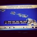Delta Spirit tweet pic of Tsunami warning
