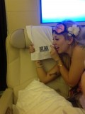 Lady Gaga aboard her very own plane