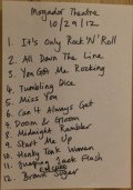 Rolling Stones 2nd Paris setlist