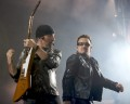 The Edge and Bono, U2 perform at Etihad Stadium. Photo by Ros O'Gorman