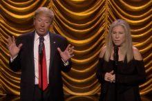Barbra Streisand and Donald Trump