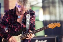 Kevin Borich performs at the Melbourne Guitar Show Caulfield Racetrack on Saturday 6 August. photo by Ros O'Gorman
