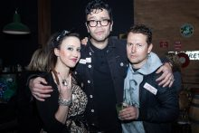 Jane Gazzo, Dylan Lewis and Leigh Whannell at the Recovery 20th Anniversary Reunion. Photo by Ros O'Gorman