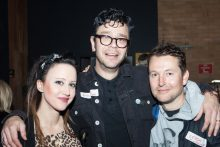 Dylan Lewis, Jane Gazzo and Leigh Whannell at the Recovery 20th Anniversary Reunion. Photo by Ros O'Gorman