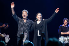Jon Stevens and Kate Ceberano at the Palms Crown Melbourne on Friday 14 July 2017. Photo by Ros O'Gorman