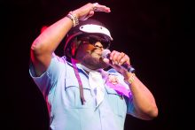 The Village People with Victor Willis perform at Margaret Court Arena on Tuesday 12 December 2017. Photo by Ros O'Gorman
