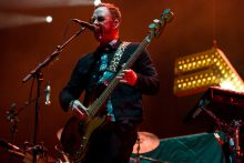 Scott Shriner of Weezer at Etihad Stadium on Tuesday 30 January 2018. Photo by Ros O'Gorman