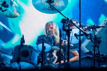 Taylor Hawkins Foo Fighters at Etihad Stadium on Tuesday 30 January 2018. Photo by Ros O'Gorman
