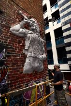 Bon Scott statue in AC:DC Lane