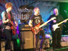 Charlie Bedford Jack Jones and Shannon Bourne at Melbourne Guitar Show 2018
