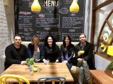 L to R: Jason Herbison, Alexandra Cunningham, Natalie Mandel (of Fremantle Media), Amy Jarman & Heath Johns (of BMG Australia)