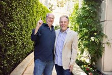 Michael Gudinski and Jay Marciano