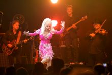 Dolly Parton in concert photo by Ros O'Gorman