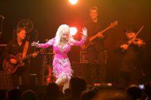 Dolly Parton in concert photo by Ros O'Gorman