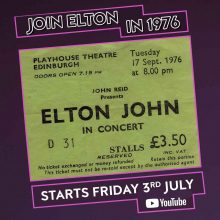 Elton John Edinburgh 1975